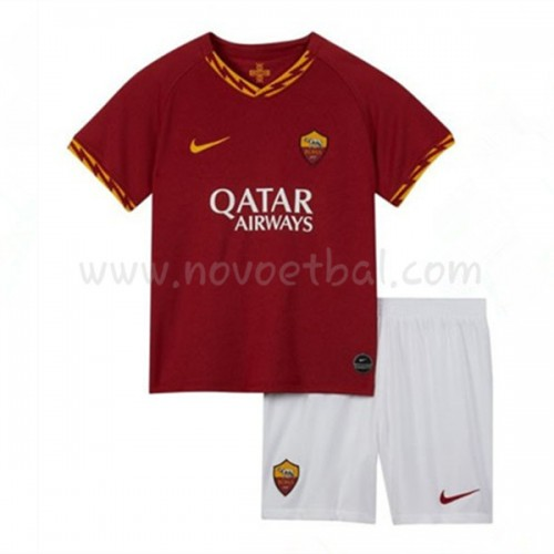 Voetbaltenue Kind AS Roma 2019-20 Thuisshirt Korte Mouwen