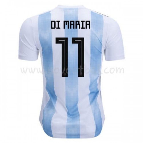 Argentina 2018 Di Maria 11 Short Sleeve Home Soccer Jersey