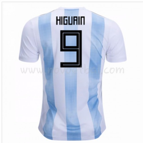 Argentina 2018 Higuain 9 Short Sleeve Home Soccer Jersey