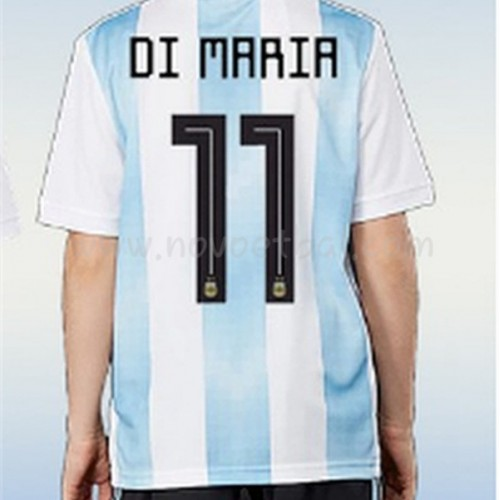 Argentina Kids 2018 World Cup Di Maria 11 Short Sleeve Home Soccer Jersey