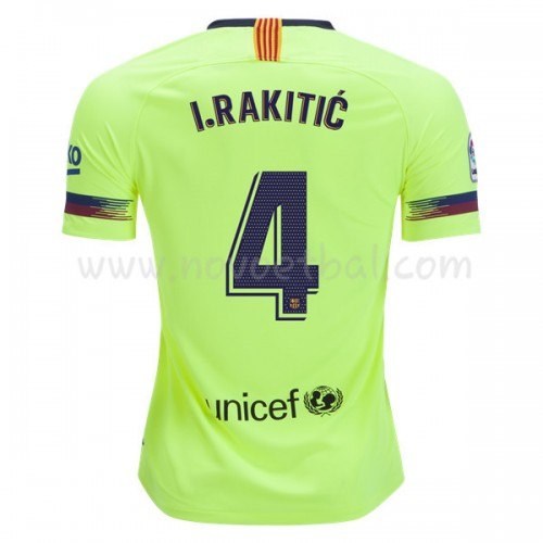 Barcelona 2018-19 I. Rakitic 4 Short Sleeve Away Soccer Jersey