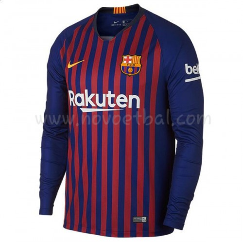Barcelona 2018-19 Long Sleeve Home Soccer Jersey