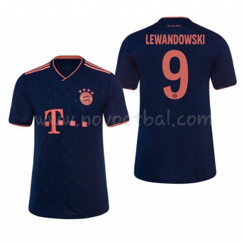 Voetbaltenue Kind Bayern Munich 2019-20 Robert Lewandowski 9 Third Shirt Korte Mouwen