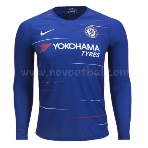 Chelsea 2018-19 Long Sleeve Home Soccer Jersey