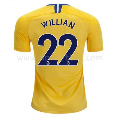 Chelsea 2018-19 Willian Borges da Silva 22 Short Sleeve Away Soccer Jersey