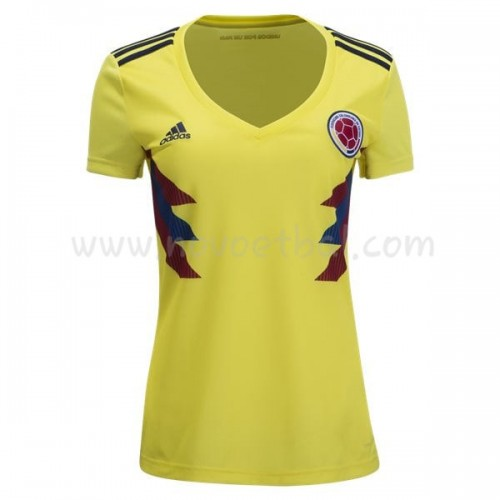 Colombia Womens 2018 World Cup Short Sleeve Home Soccer Jersey