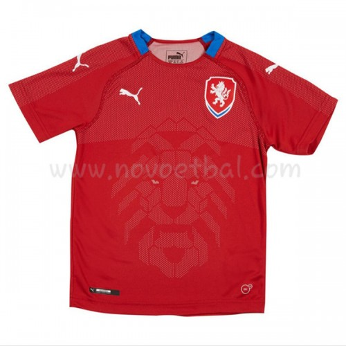 Czech Kids 2018 Short Sleeve Home Soccer Jersey