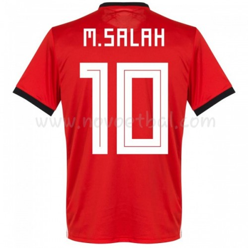 Egypt 2018 Mohamed Salah 14 Short Sleeve Home Soccer Jersey