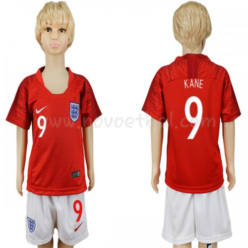 England Kids 2018 World Cup Harry Kane 9 Short Sleeve Away Soccer Jersey