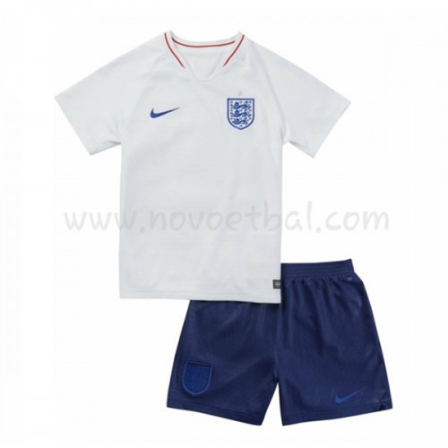 England Kids 2018 World Cup Short Sleeve Home Soccer Jersey
