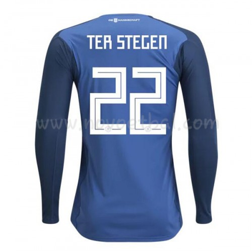 Germany 2018 Goalkeeper Ter Stegen 22 Long Sleeve Home Soccer Jersey