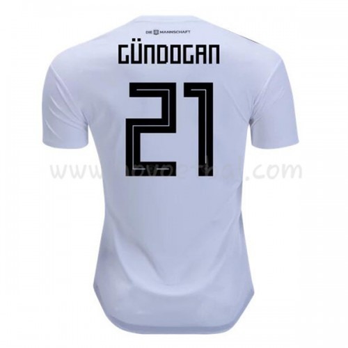 Germany 2018 Ilkay Gundogan 21 Short Sleeve Home Soccer Jersey