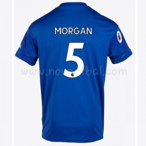 Goedkope Voetbaltenue Leicester City 2019-20 Wes Morgan 5 Thuisshirt Korte Mouwen