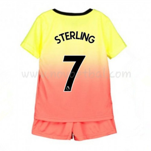 Voetbaltenue Kind Manchester City 2019-20 Raheem Sterling 7 Third Shirt Korte Mouwen