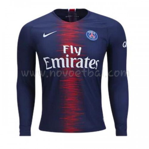 Paris Saint Germain Psg 2018-19 Long Sleeve Home Soccer Jersey