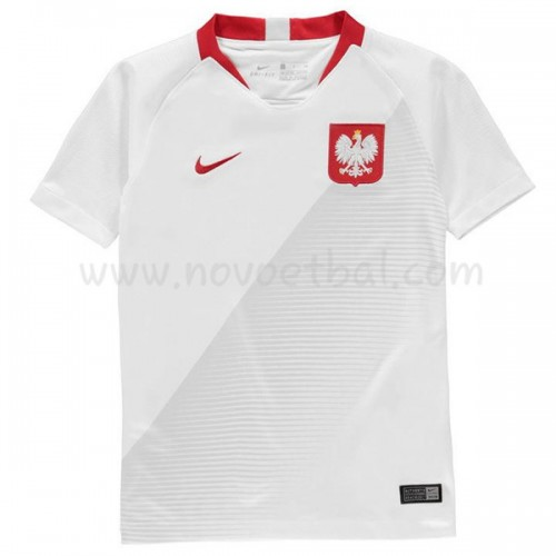 Poland Kids 2018 World Cup Short Sleeve Home Soccer Jersey