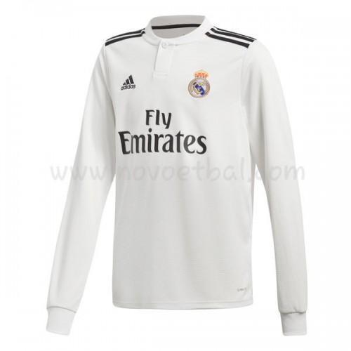 Real Madrid 2018-19 Long Sleeve Home Soccer Jersey