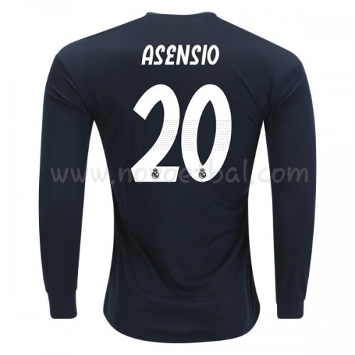 Real Madrid 2018-19 Marco Asensio 20 Long Sleeve Away Soccer Jersey