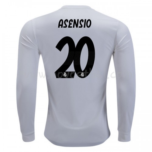 Real Madrid 2018-19 Marco Asensio 20 Long Sleeve Home Soccer Jersey