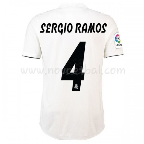 Real Madrid 2018-19 Sergio Ramos 4 Short Sleeve Home Soccer Jersey
