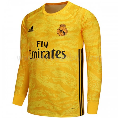 Goedkope Voetbaltenue Real Madrid 2019-20 Keeper Thuisshirt Lange Mouw