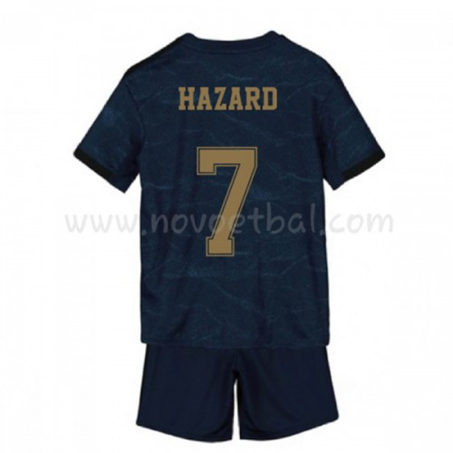 Voetbaltenue Kind Real Madrid 2019-20 Eden Hazard 7 Uitshirt Korte Mouwen
