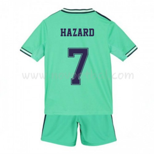 Voetbaltenue Kind Real Madrid 2019-20 Eden Hazard 7 Third Shirt Korte Mouwen