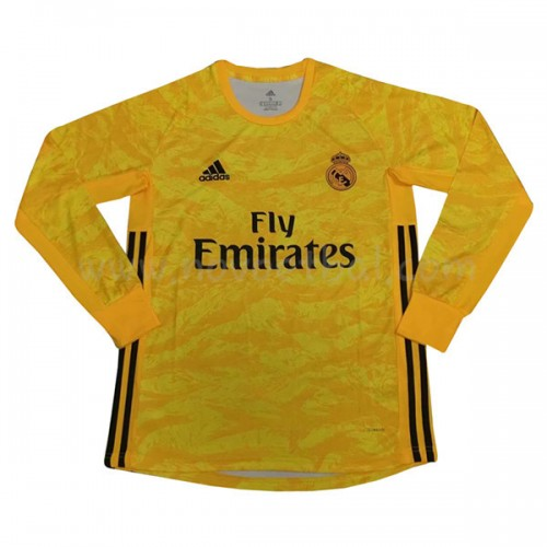 Voetbaltenue Kind Real Madrid 2019-20 Keeper Thuisshirt Lange Mouw