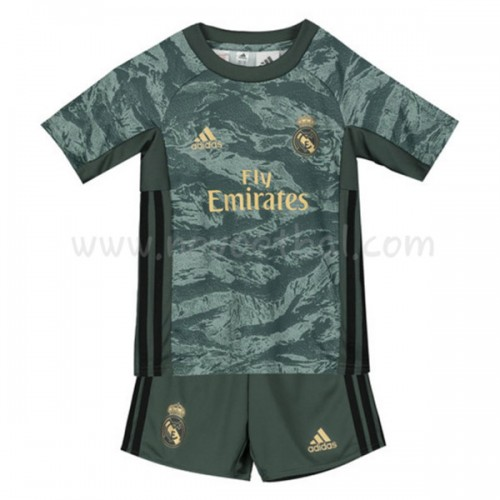 Voetbaltenue Kind Real Madrid 2019-20 Keeper Uitshirt Korte Mouwen