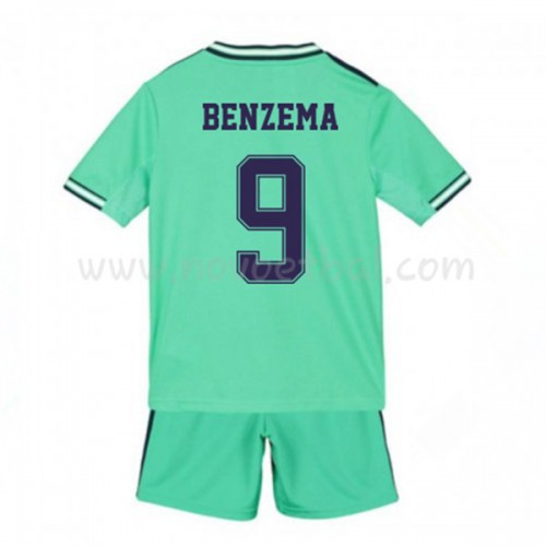 Voetbaltenue Kind Real Madrid 2019-20 Karim Benzema 9 Third Shirt Korte Mouwen