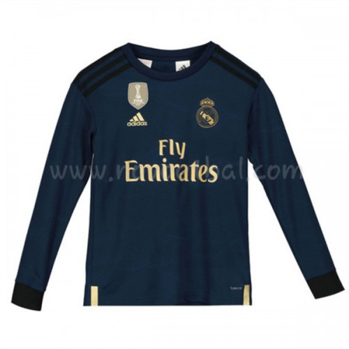 Voetbaltenue Kind Real Madrid 2019-20 Uitshirt Lange Mouw