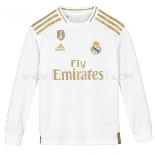 Voetbaltenue Kind Real Madrid 2019-20 Thuisshirt Lange Mouw