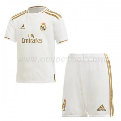 Voetbaltenue Kind Real Madrid 2019-20 Thuisshirt Korte Mouwen