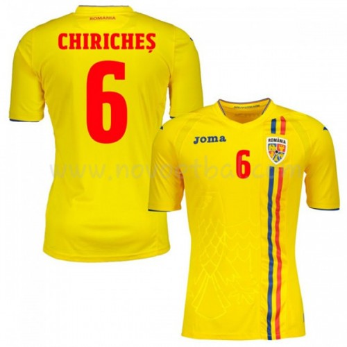 Romania 2018 Vlad Chiriches 6 Short Sleeve Home Soccer Jersey
