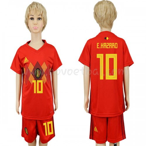 Belgium Kids 2018 World Cup Eden Hazard 10 Short Sleeve Home Soccer Jersey
