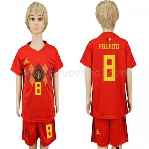 Belgium Kids 2018 World Cup Fellaini 8 Short Sleeve Home Soccer Jersey