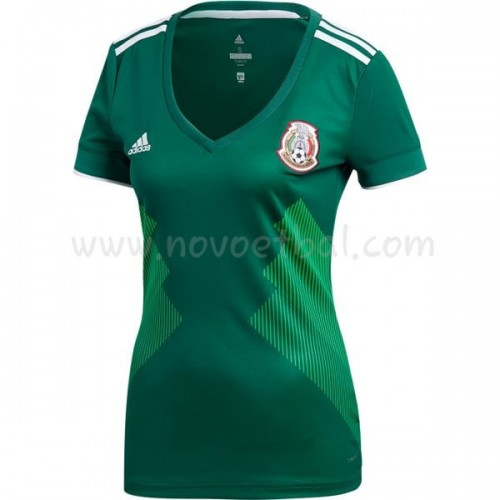 Mexico Womens World Cup 2018 Short Sleeve Home Soccer Jersey